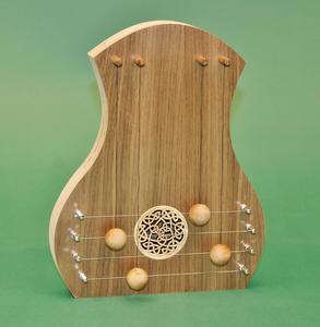 Door Harp - Walnut w/Celtic Knot