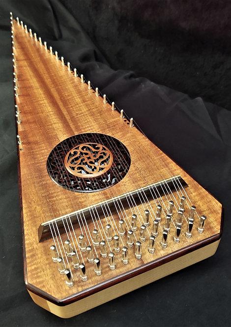 2 1/2 Octave Hawaiian Curly Koa Bowed Psaltery