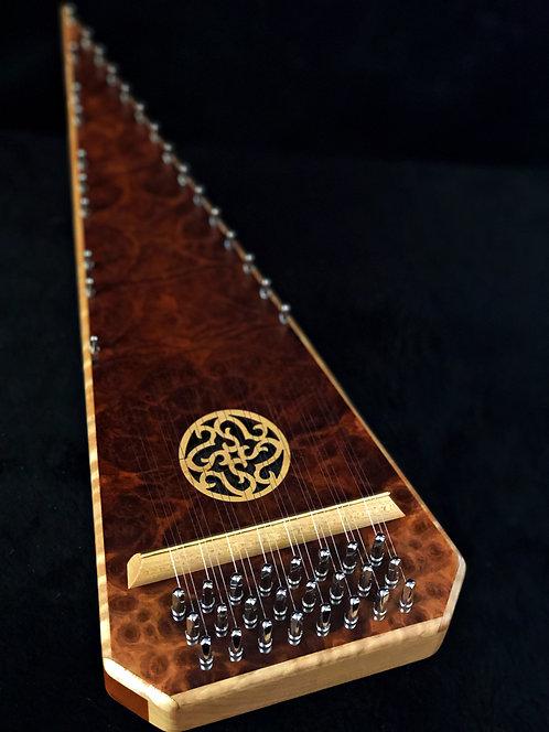 (#6587) 2 Octave Bowed Psaltery - Coolibah Burl