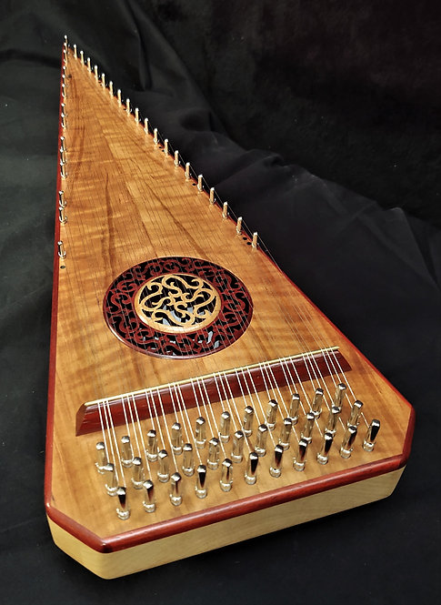 2 1/2 Octave Figured American Cherry Bowed Psaltery