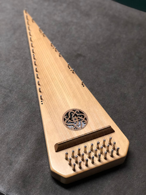 (#6573) 2 Octave Left-Handed Spruce Bowed Psaltery