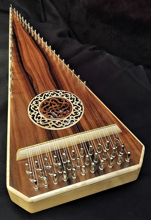 2 1/2 Octave Bolivian Rosewood Bowed Psaltery
