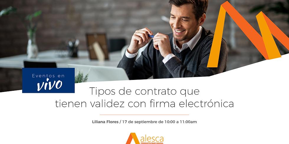 Tipos de contrato que tienen validez con firma electrónica