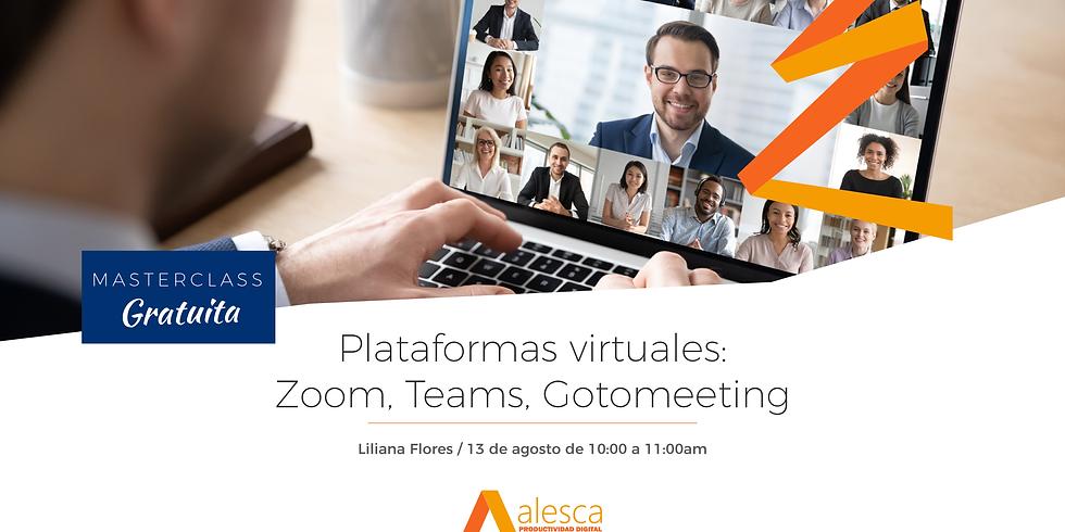Plataformas virtuales: Zoom, Teams, Gotomeeting