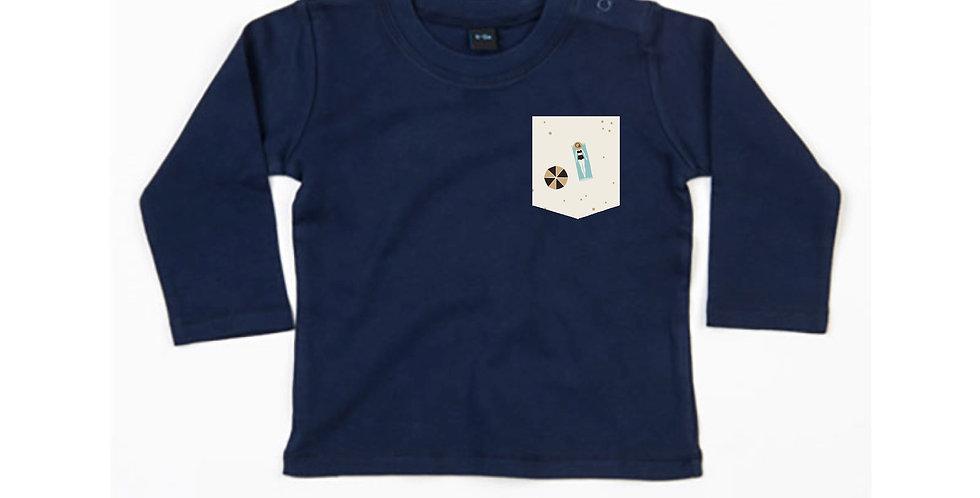 Dame à la Plage - Baby long sleeve T-shirt