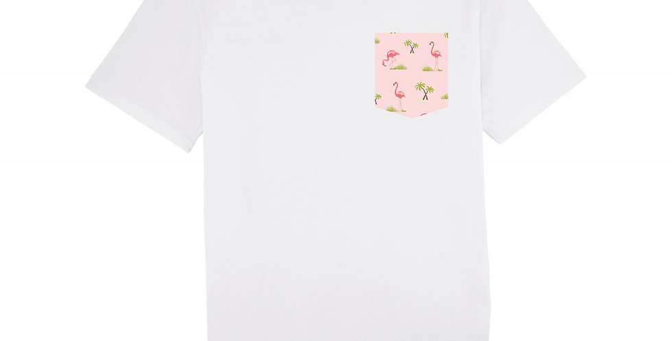Flamant Rose - organic cotton unisex T-shirt