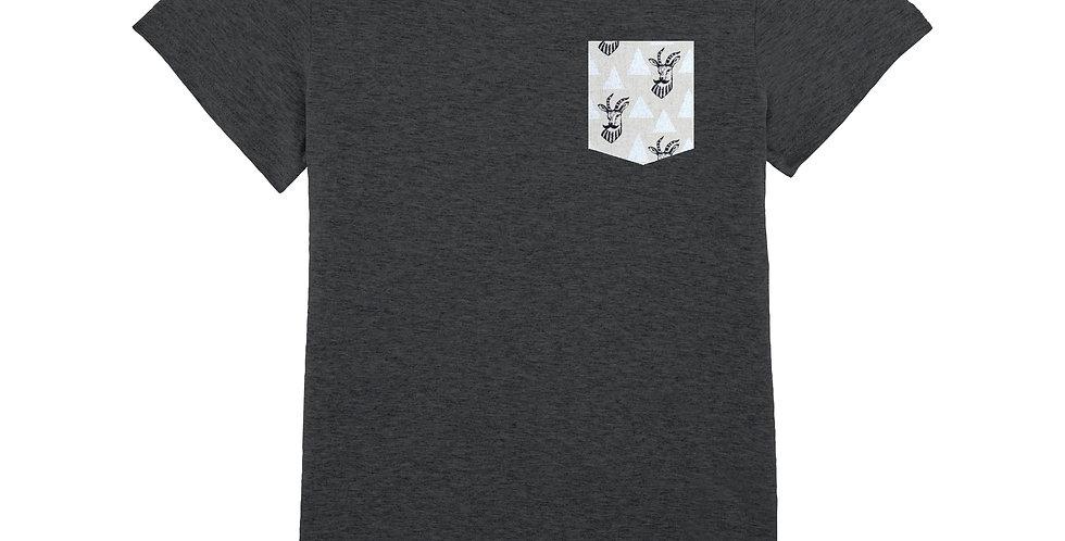 Fitted T-shirt - Impala à Moustache - Women