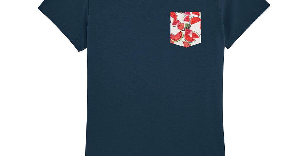 Fitted T-shirt - Pastèques - Women
