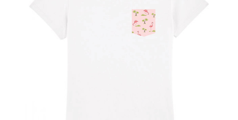 Fitted T-shirt - Flamant Rose - Women