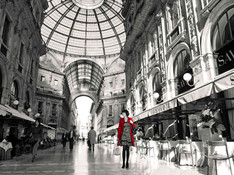 Milan - Woman in red