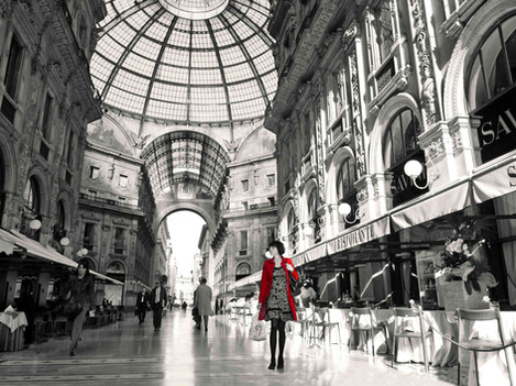 Milan - Woman in red