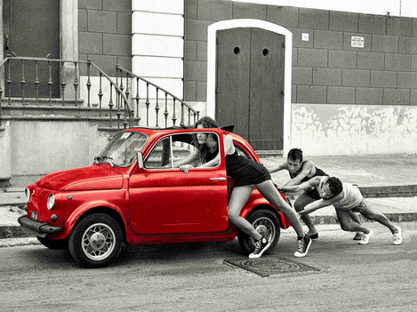 Piano - Fiat 500 Red