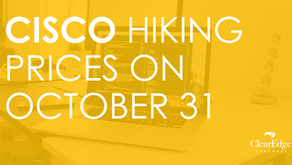 Cisco Hiking Prices on October 31
