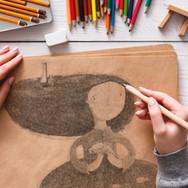 El bosquejar del artista