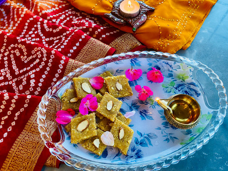 Cashew Badam Katli or Cashew Almond Fudge