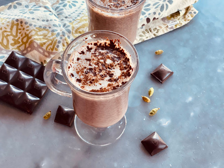 Cardamom & Rose Hot Chocolate