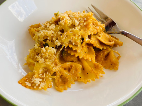 Baked Pasta with Roasted Butternut Squash Sauce