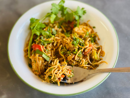 30 minute Spicy Thai Noodles - Vegan and Gluten-free