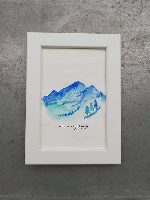 Fragile - Watercolour Painting + Download