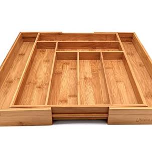 Bamboo Expandable Utensil Drawer Organizer, $17.99 (Reg. $23.99)