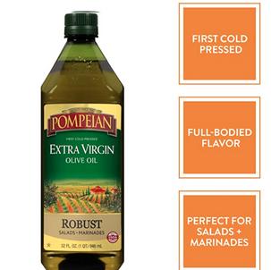 Pompeian Organic Extra Virgin Olive Oil 32 Oz, $5.38 (Reg. $8.49)