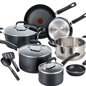 T-fal Professional Cookware Pots & Pans Set Now 54% OFF!