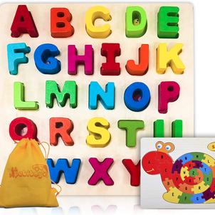 Wooden Alphabet Puzzles $10.55 (Reg $16.75)
