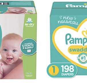 Newborn/Size 1 Pampers Diapers - One Month Supply Starting at $31.06!