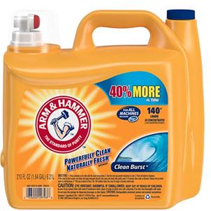 Arm & Hammer Clean Burst Liquid Laundry Detergent (210 Oz) $9.98