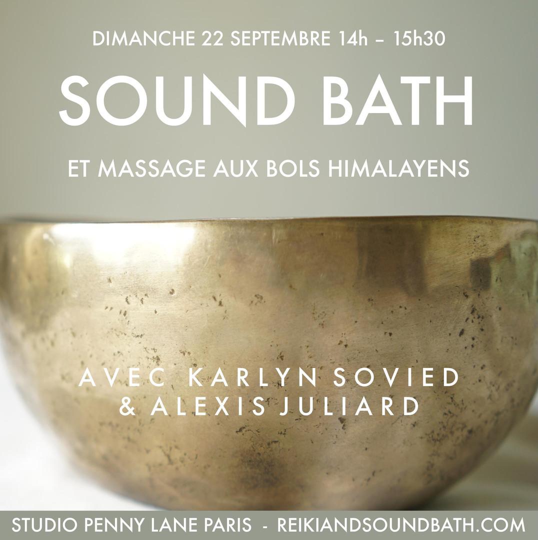 Sound Bath and Tibetan bowls sound massage