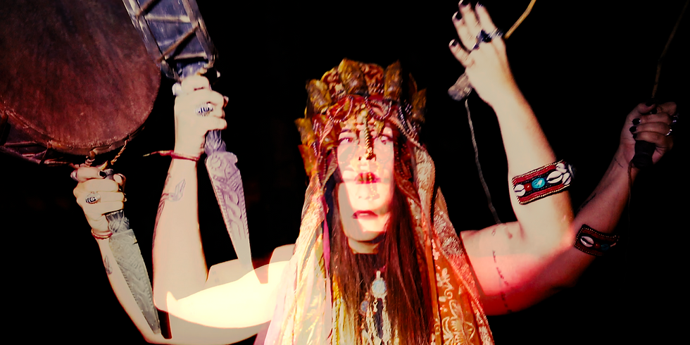 Performance ritual at Château Perché Festival (FRANCE)