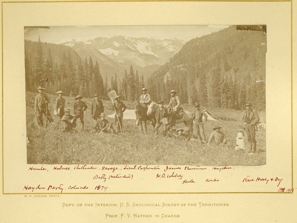 US Geological Survey of the Territories Field Party in Colorado, 1874