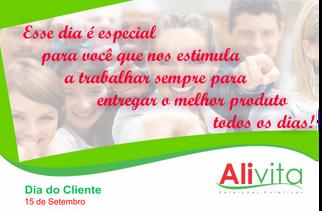 Homenagem da Alivita ao Dia do Cliente