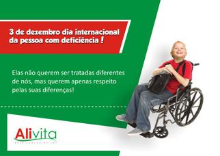 Dia 03 de Dezembro (Dia Internacional da Pessoa com Deficiência)