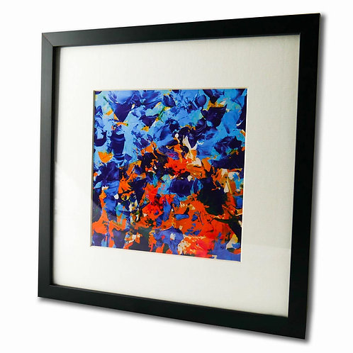 BLUE MIX FRAMED