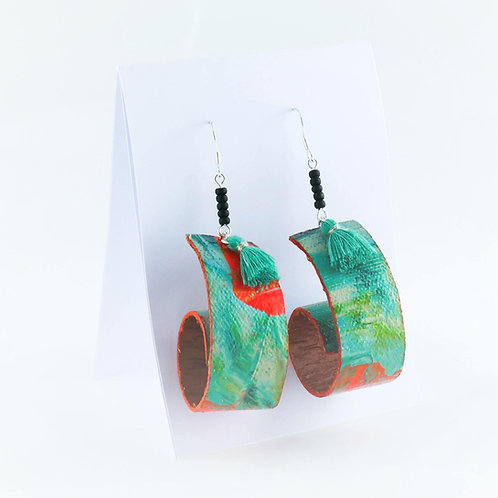 Canvas earrings