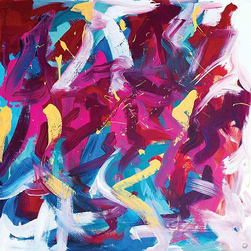 Pink Vibration by Giddy Art