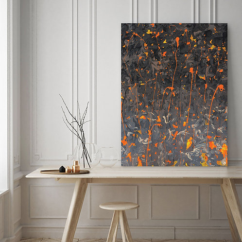 Orange Abstract by Giddy Art