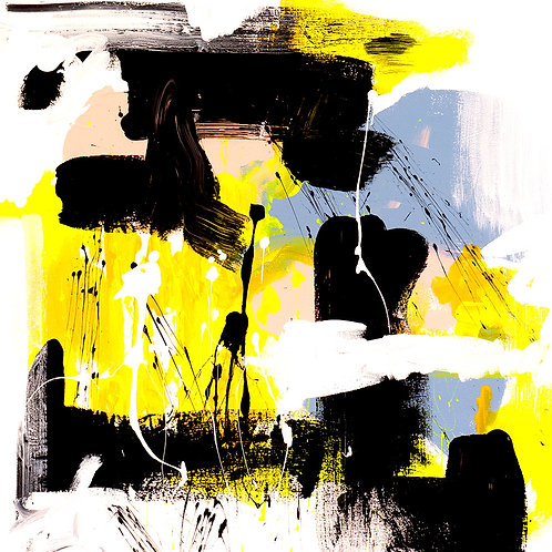Yellow Abstract by Giddy Art