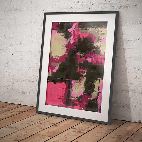 Pink Abstract by Giddy Art