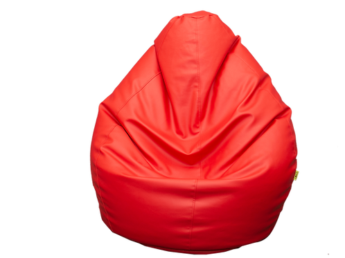Red Eco Leather Bean Bag