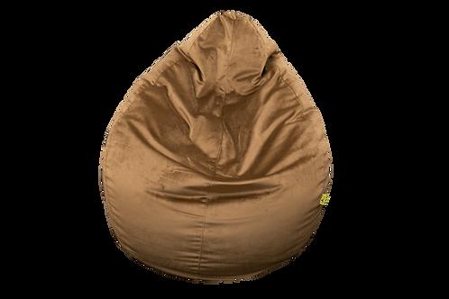 Brown Velvet Bean Bag