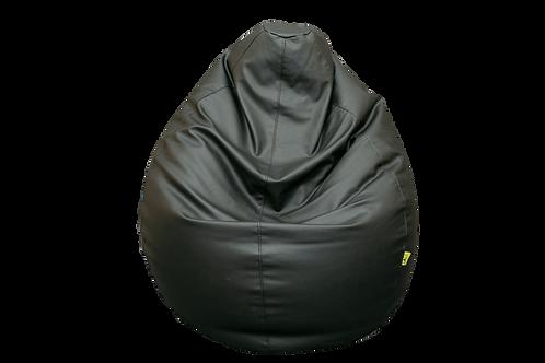 Black Eco Leather Bean Bag