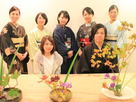 『きもので季節のお花をいける会』開催しました!
