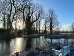 Winter sun on the moat