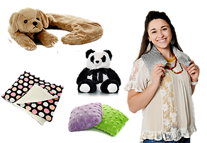 Sootheze Weighted Blanket, Panda Bear, Stress Pals, Smooth Pup Collar, Neck and Body Wrap, Lavender, Microwavable