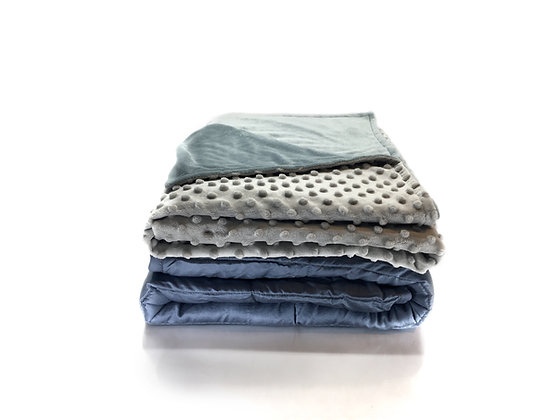 "15 Pound Weighted Blanket with Duvet Cover- 48""x72"""