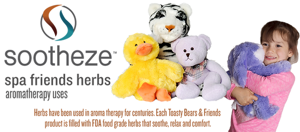 Romeo Rabbit is Cuddly and Calming. Microwavable Plush Animals, Heat Cold and Aomatherapy