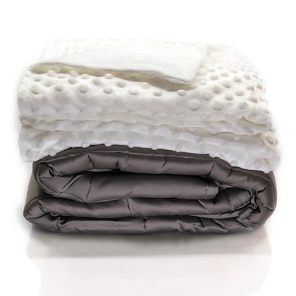"5 Pound Weighted Blanket with Removable Duvet Cover- 36""x48"""