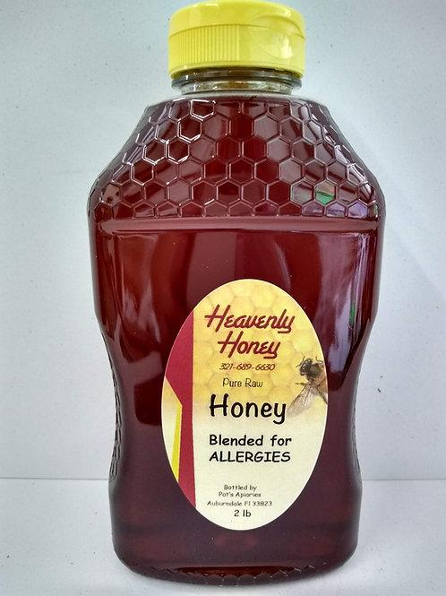 Blended for Allergies Raw  Honey-2 LB